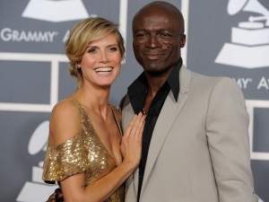 heidi klum and seal at grammy awards ceremony