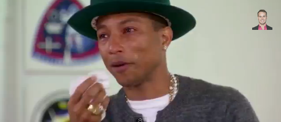 Pharrell Williams Crying