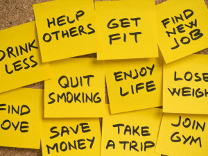 New Years Resolutions Post-It Notes
