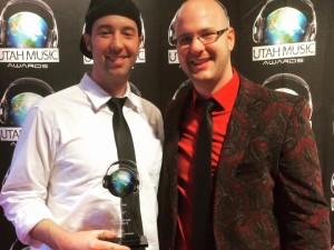 Preston Lee and brother Devon at the Utah Music Awards
