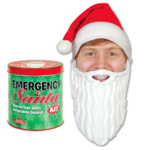 Emergency santa kit in a can