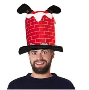 Chimney santa hat