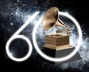 Grammy Awards 60th year logo