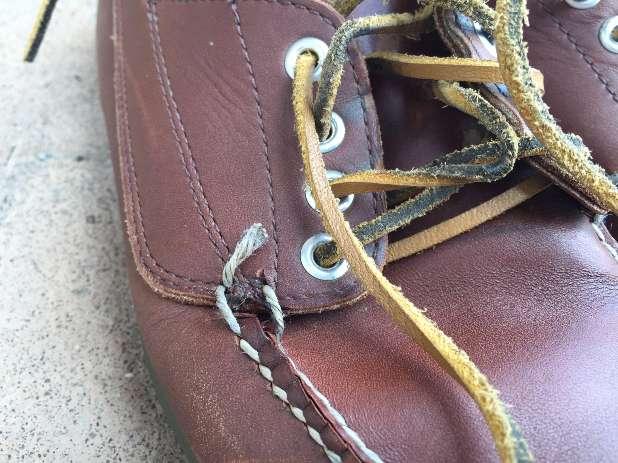 worn ll bean shoes
